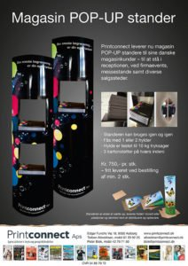 Magasin pop-up stander